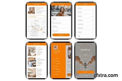 BookMyTrip - Hotel Booking UI Kit for Adobe XD