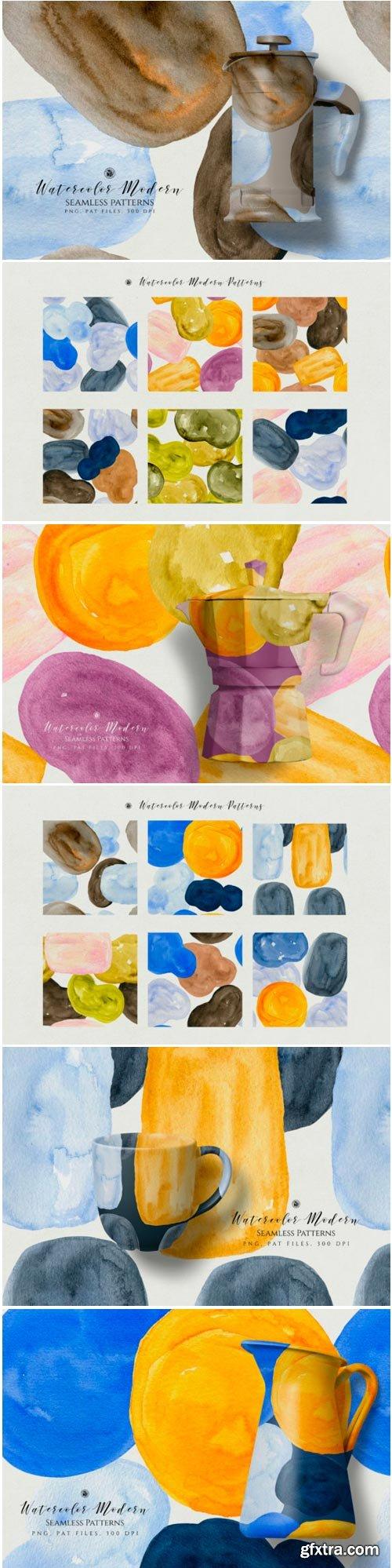 Watercolor Modern Patterns 1424644