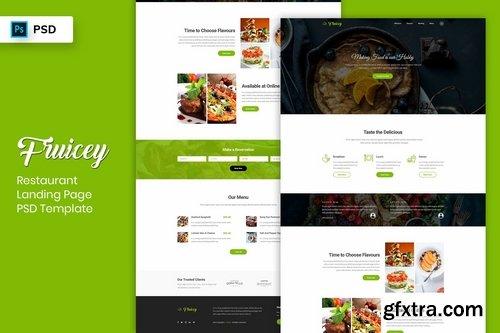 Restaurant - Landing Page PSD Template