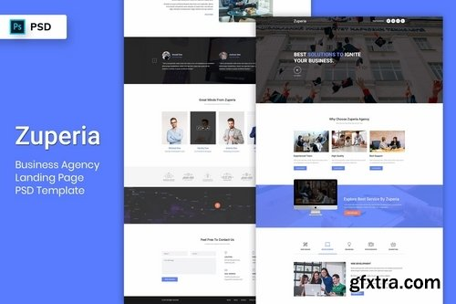 Business Agency - Landing Page PSD Template