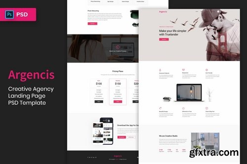 Creative Agency - Landing Page PSD Template