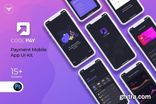 Cool Pay Payment Mobile App UI Kit