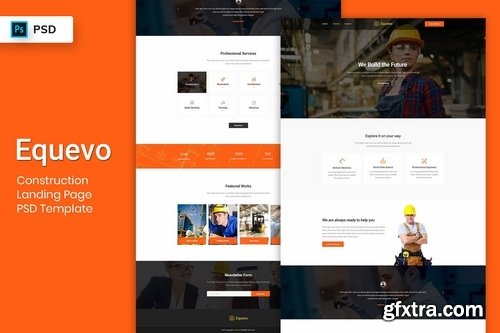 Construction - Landing Page PSD Template