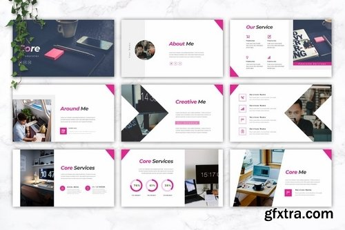CORE - IT Company Powerpoint Google Slides and Keynote Templates