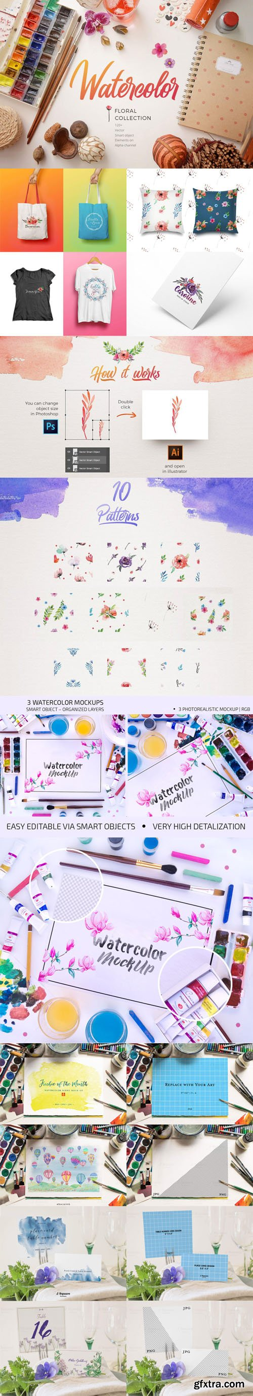 Watecolor PSD Mockups Collection