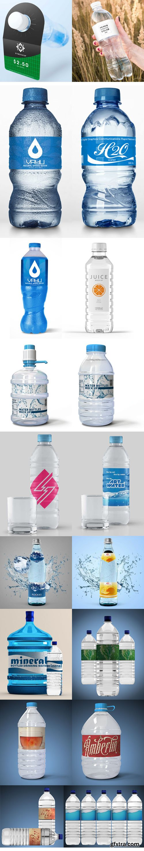 Huge Water Bottle PSD Mockups Collection
