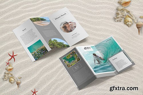 Summer Beach Trifold Brochure