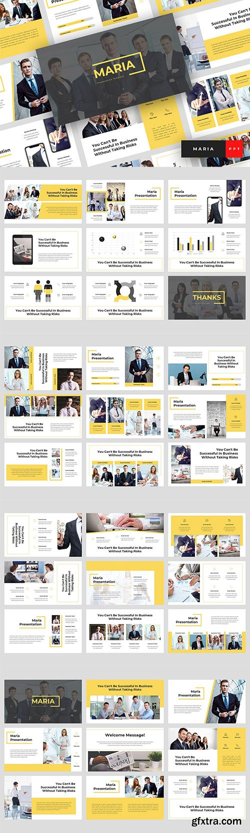 Maria - Pitch Deck Powerpoint Keynote and Google Slides Template