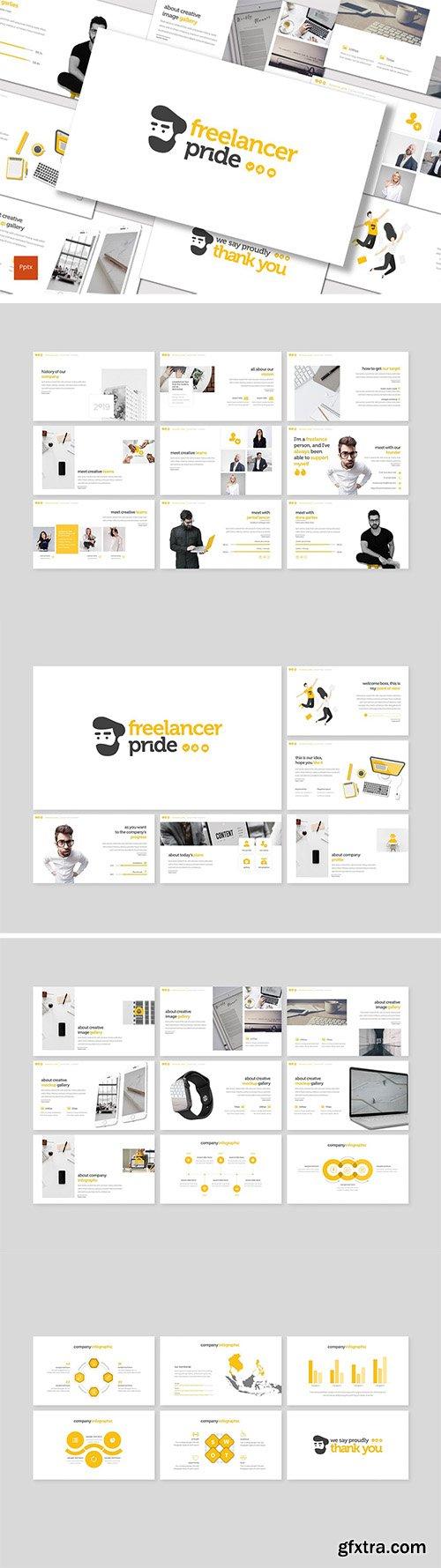 Freelancer Pride - Powerpoint Keynote and Google Slides Template