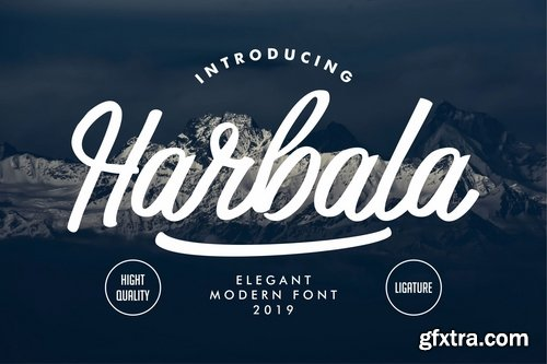 Harbala Elegant Modern Script Font