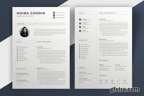 Resume Template Moira
