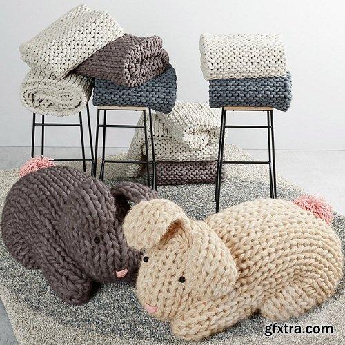 Knitted rabbit 3D Model