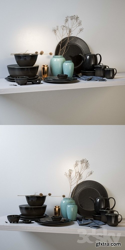 Broste Copenhagen Nordic Coal Ceramics 3D Model