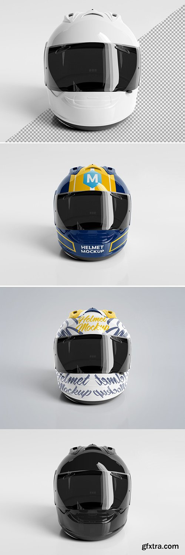 Isolated Motorcycle Helmet on White Mockup 269077022