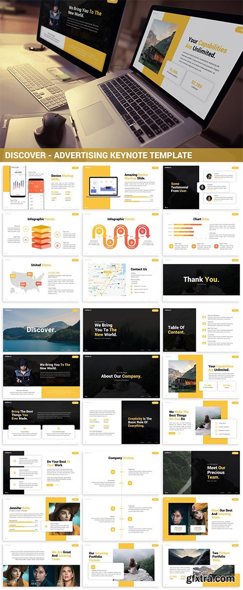 Discover - Advertising Keynote Template