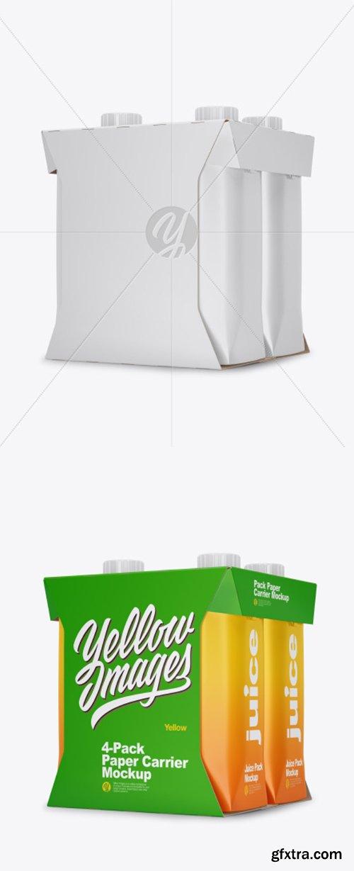 4 Pack Paper Carrier Mockup 42276