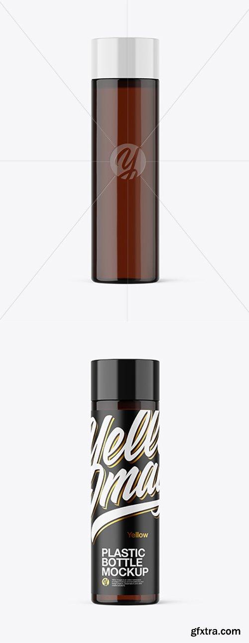 Amber Plastic Bottle Mockup 42748
