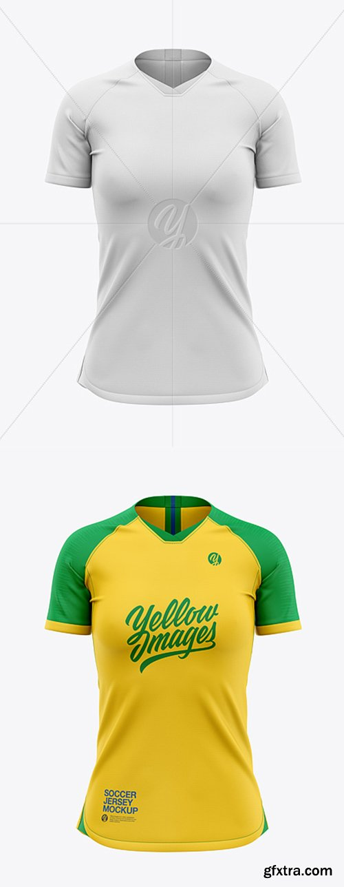 Women's Soccer Jersey Mockup - Front View 41445