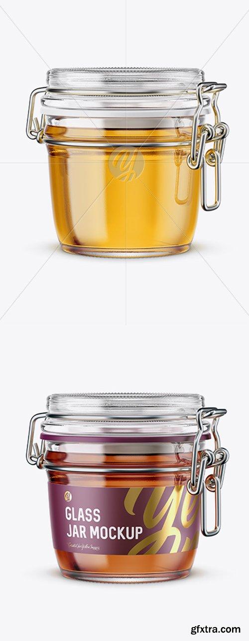 Glass Jar With Clamp Lid Mockup 42271