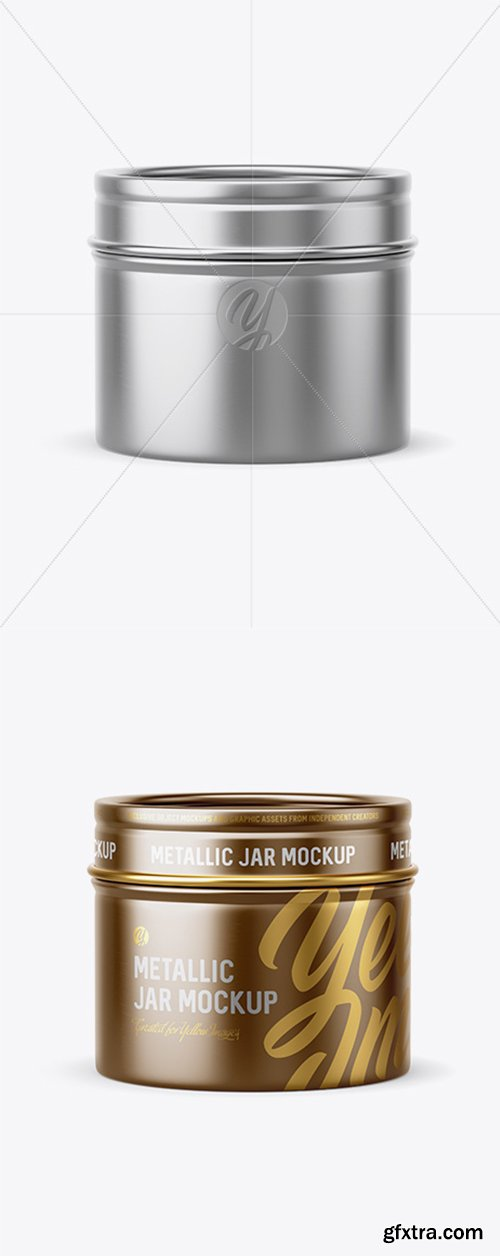 30g Metallic Jar Mockup 42111