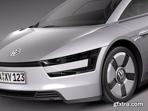 Volkswagen XL1 2014 3D Model