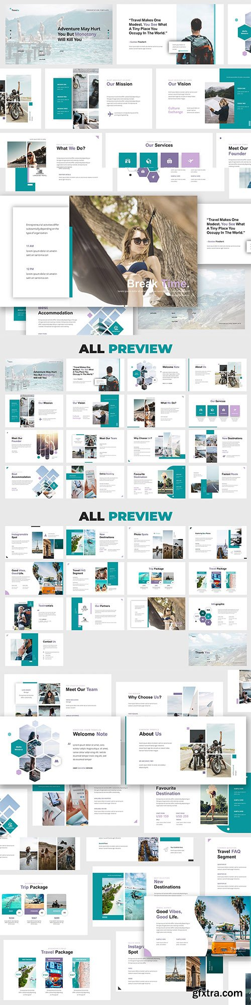 Travellia - Travel Agency Powerpoint and Google Slides Template