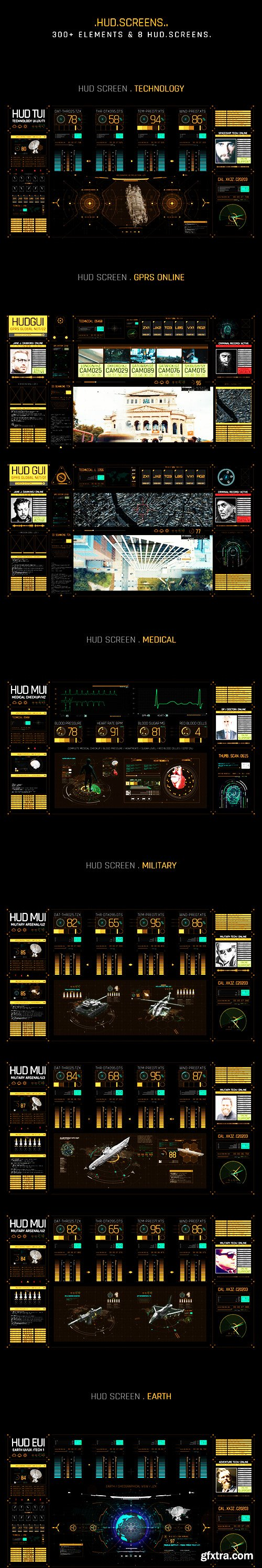 Videohive HUD Screens 22837246