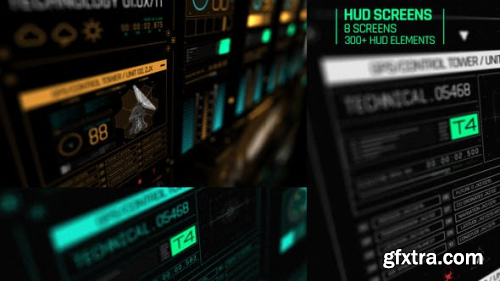 Videohive HUD Screens 22837246