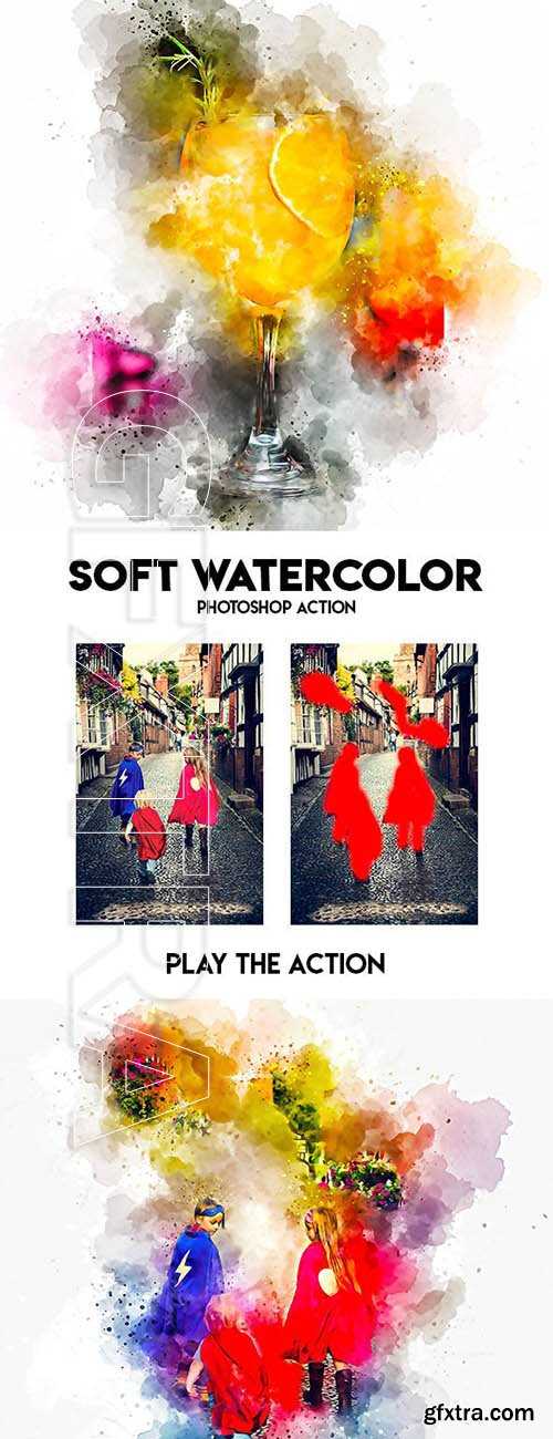 GraphicRiver - Soft Watercolor Photoshop Action 23799935