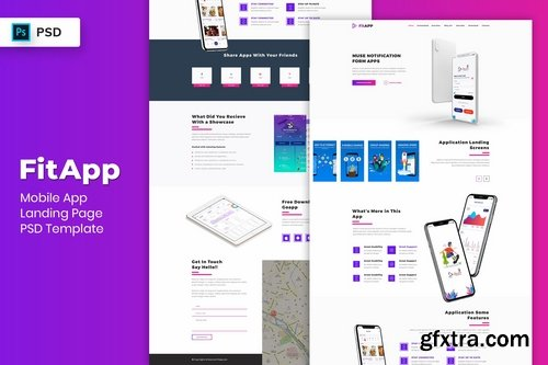 Mobile App - Landing Page PSD Template-05