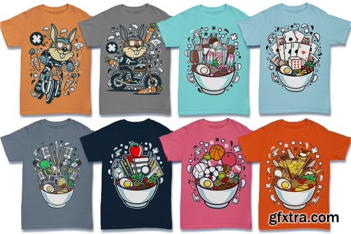 DealJumbo 224 Pro Cartoon T-shirt Designs