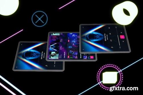 Neon iPad Pro MockUp