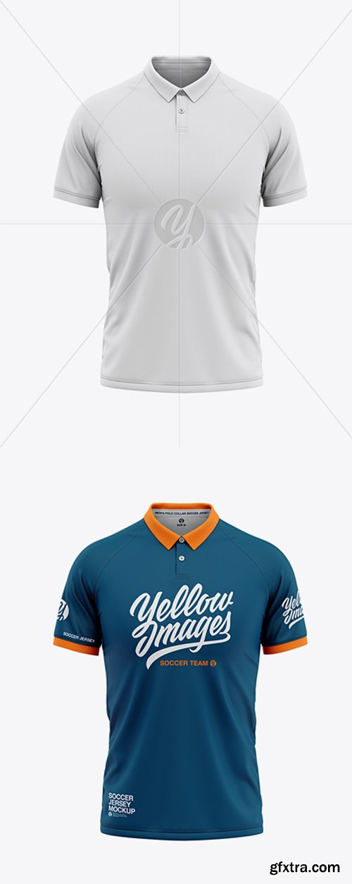 Men's Soccer Jersey Mockup - Front View 42316