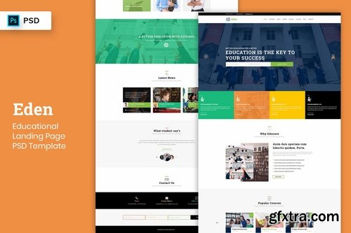 Educational - Landing Page PSD Template