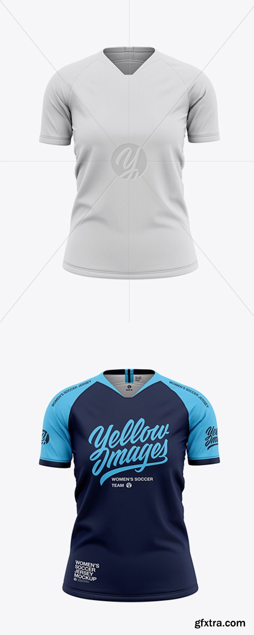 Women's Soccer Jersey Mockup - Front View 41605