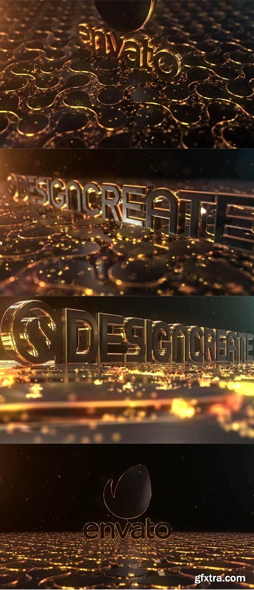 Videohive - Particles Gold Logo - 21332516