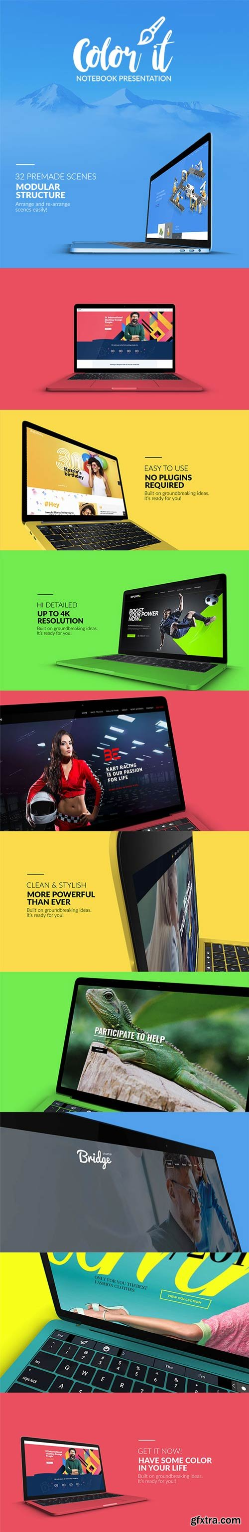 Videohive - Color it - Notebook Presentation - 21823853