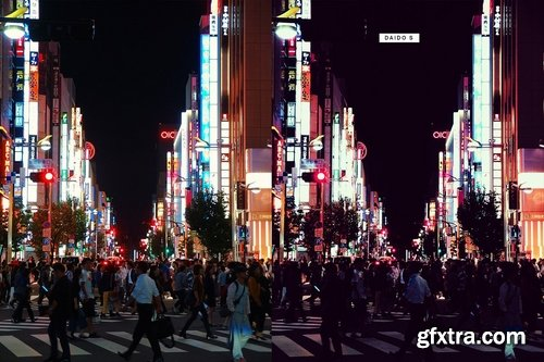 Neon Tokyo - 32 Lightroom Presets and LUTs » GFxtra