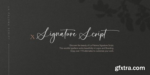 La Paloma Script Font Family