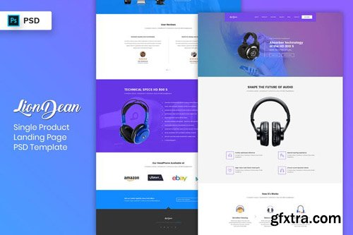 Single Product - Landing Page PSD Template-02