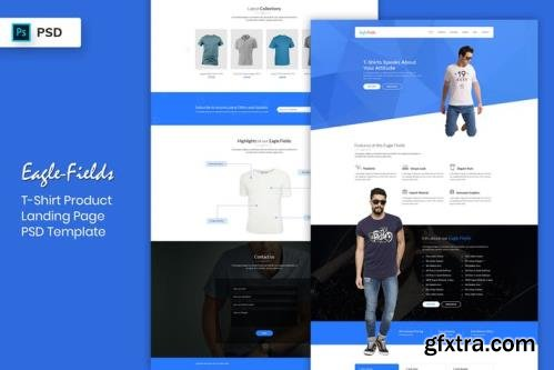 T-Shirt Product - Landing Page PSD Template