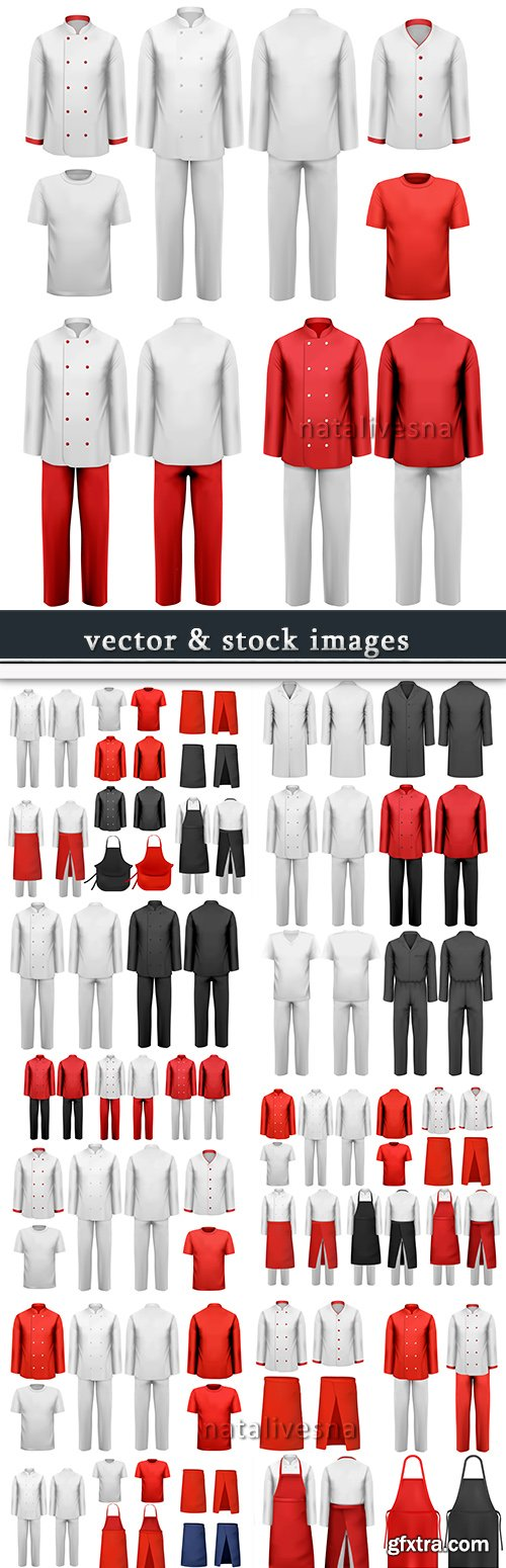 Professional chef and health workers uniform model design 2