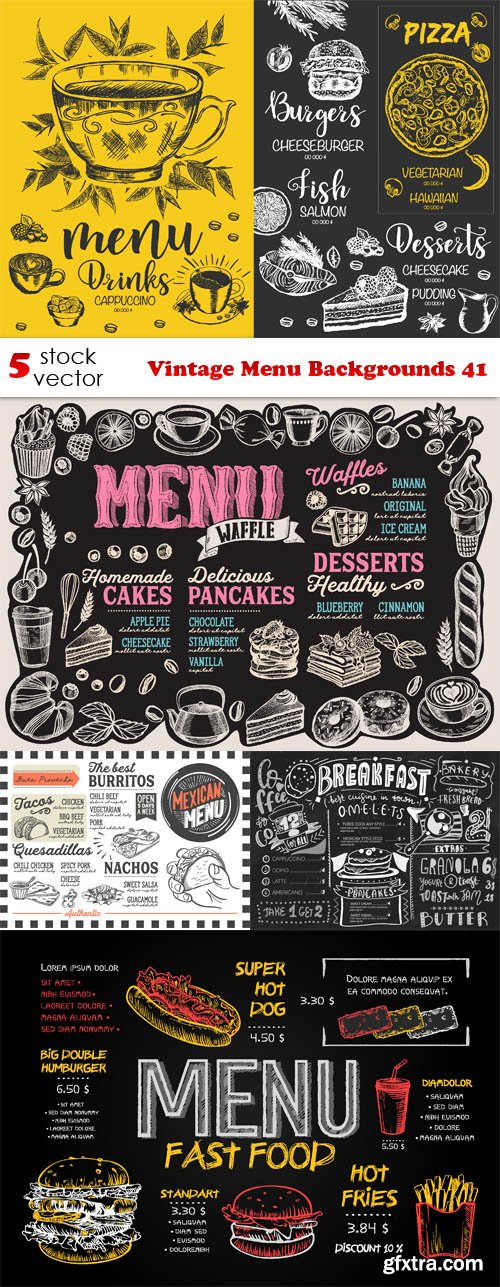 Vectors - Vintage Menu Backgrounds 41