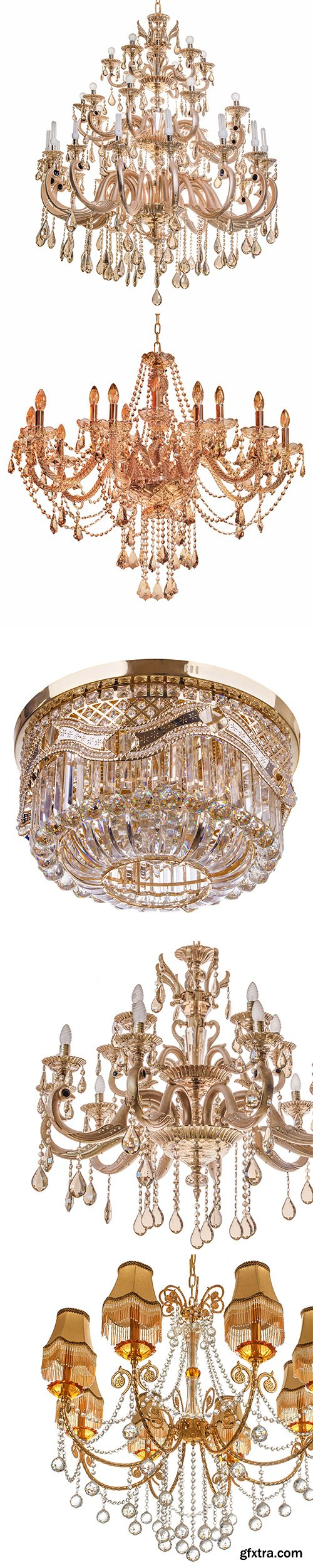 Gold Chandelier Isolated - 30xJPGs