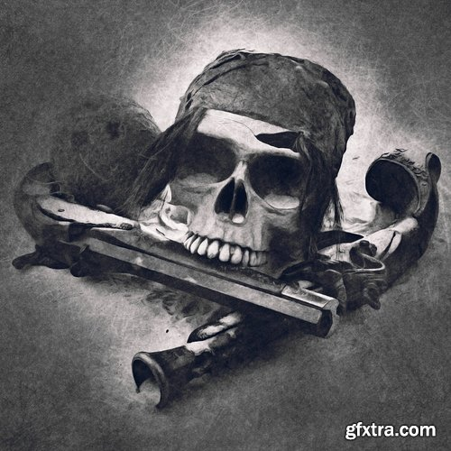 GraphicRiver - Dark Sketch CS4+ Photoshop Action 21587324