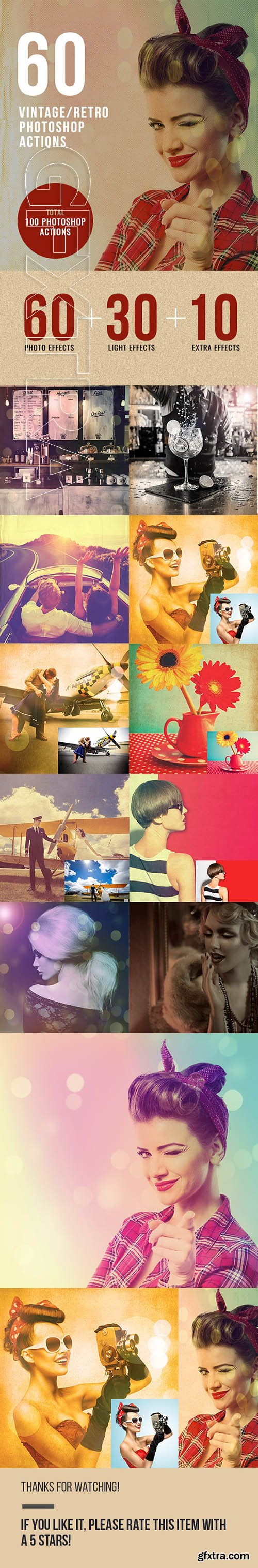 GraphicRiver - 60 Retro Vintage Photo Effects 23785978
