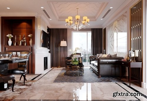 Cgtrader - Luxury Apartment Design 2 3D model