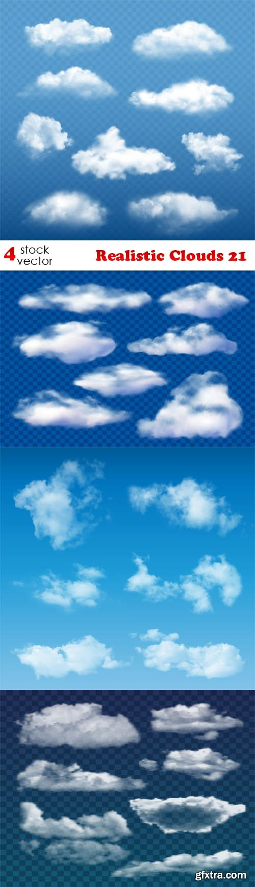 Vectors - Realistic Clouds 21