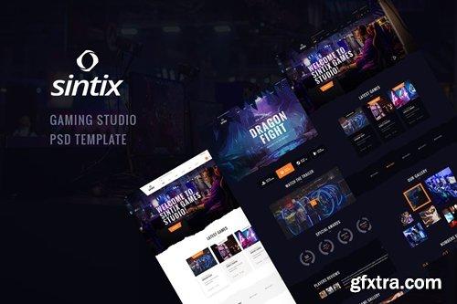 Sintix - Gaming Studio PSD Template