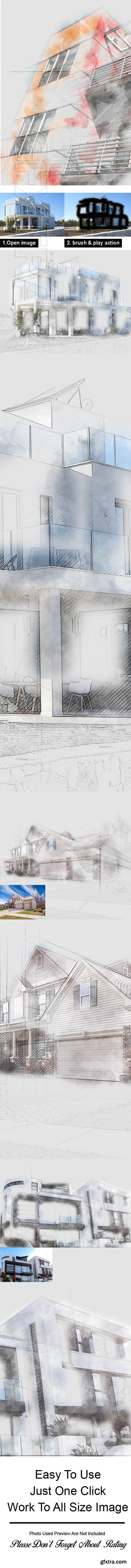 GraphicRiver - Unfinished Sketch Photoshop Action 23759888